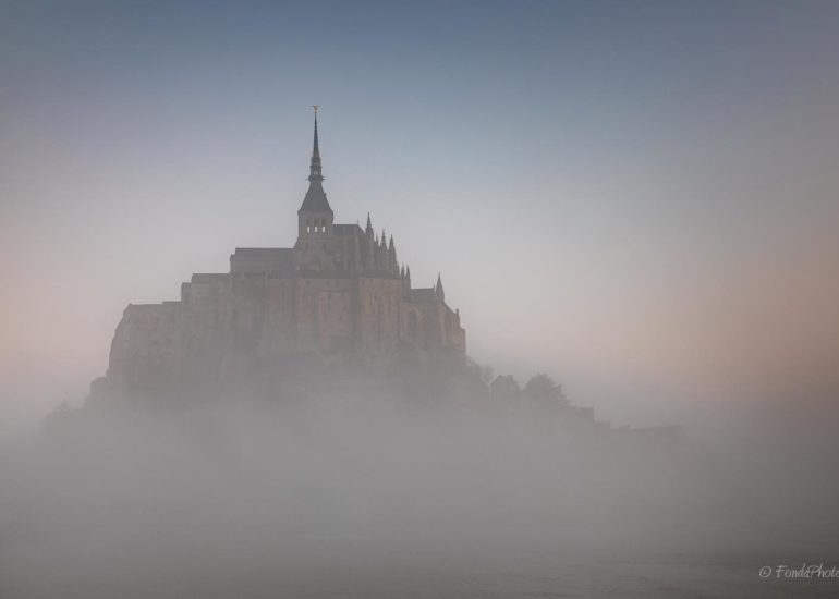 Mont-Saint-Michel in the mist