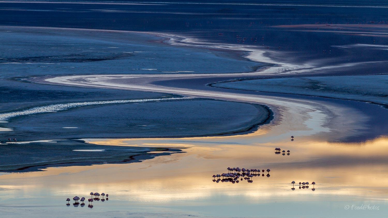 Laguna Colorada at sunrise