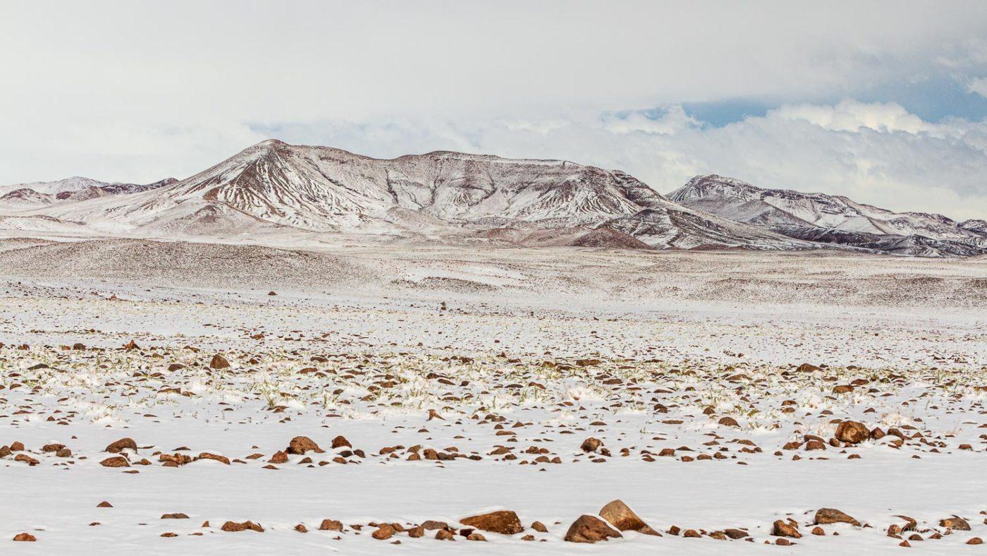 Atacama Desert under the snow