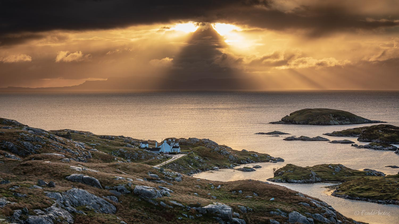Harris Island, view to Skye