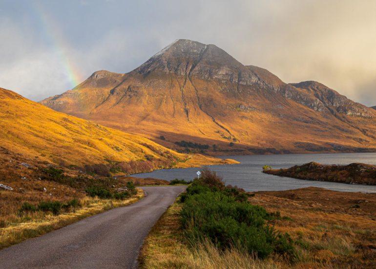 Loch Lurgainn and Cùl Beag mountain, Assynt