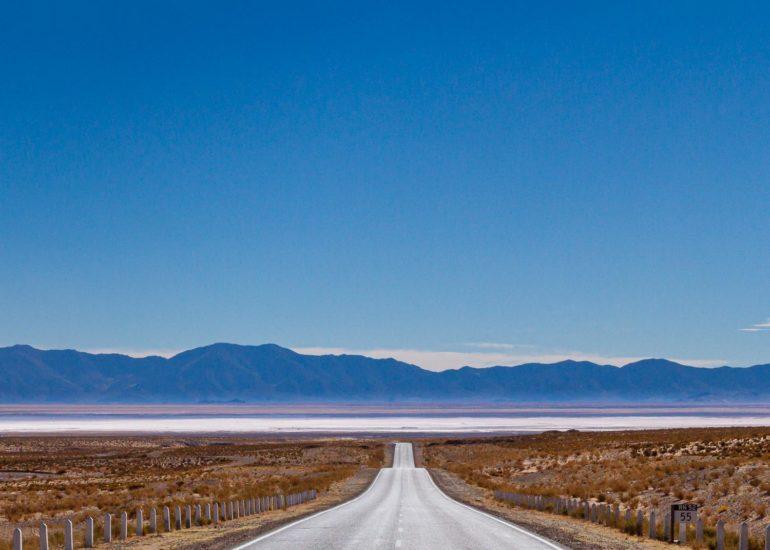Route 52 vers les Salinas Grandes, NOA, Argentine