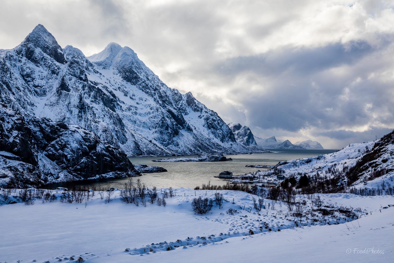 Maervollspollen fjord, Lofoten Islands
