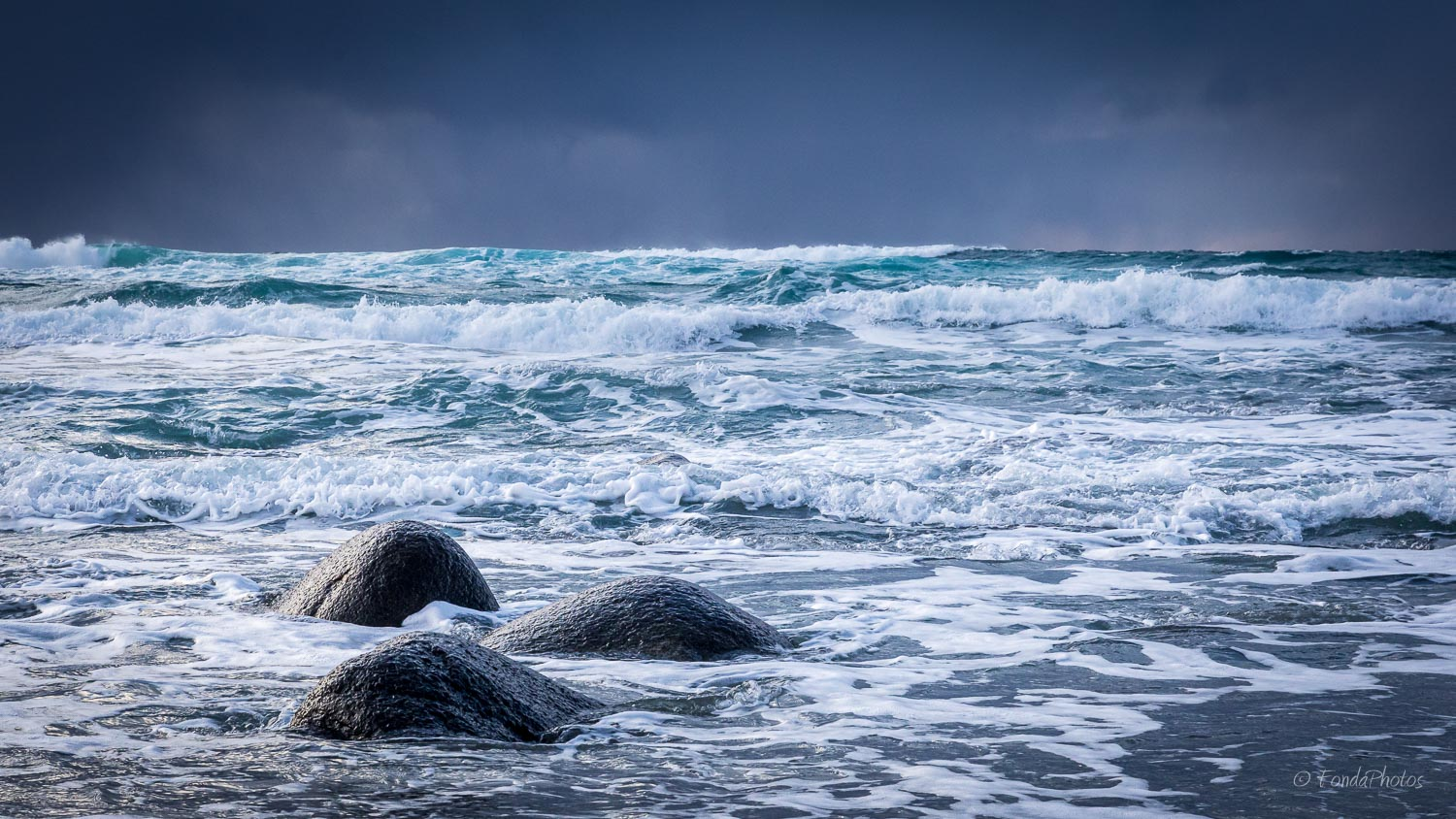 Three rocks, Unstad beach, Lofoten