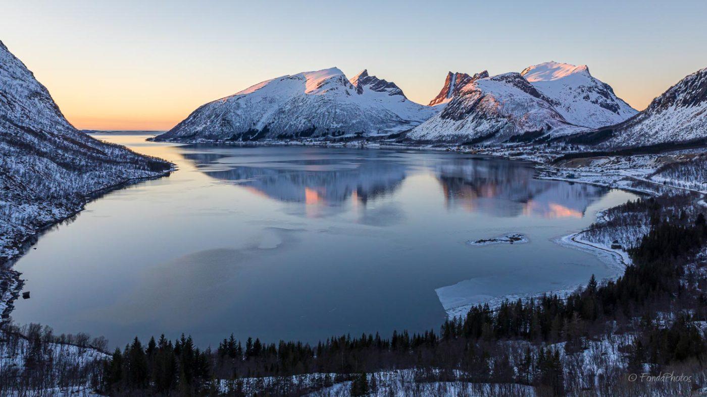 Bergbotn fjord, viewpoint, Senja
