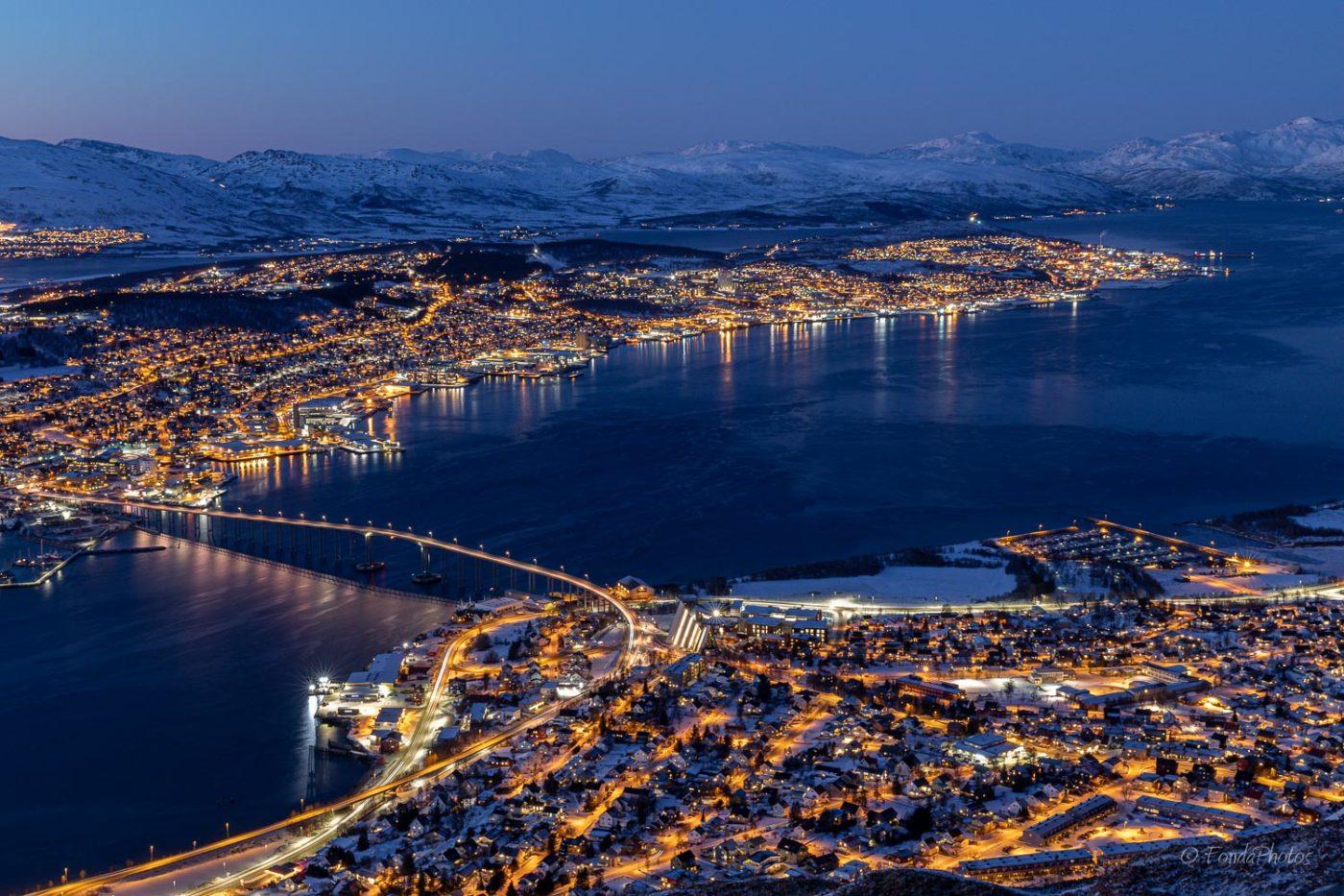 Tromso from Storsteinen mountain