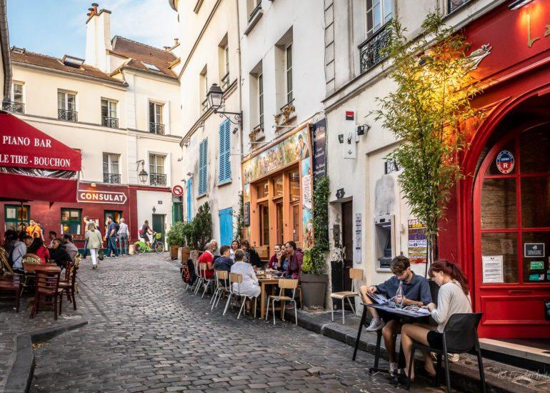Montmartre, rue Poulbot, Paris
